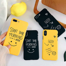 Cartoon Case For For iphone XS Max Case For iphone XR X 6S 7 8 Plus Ultra Thin Hard Pc Back Cover Funny Letter Cases Capa
