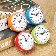 Водонепроницаемые настенные мини-часы для душа, кухонные часы для ванной комнаты, часы на присоске с чашкой, работающей от батареи, для гост...