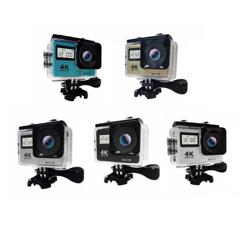 Caméra d'action à écran tactile 4 K étanche WIFI double écran 12MP 30 m DV 170 degrés grand Angle objectif Sport Cam avec accessoires