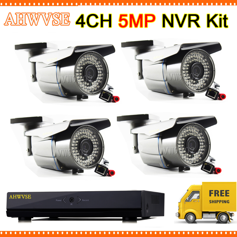 4Pcs 5MP POE IP Camera with Varifocal Lens 2.8-12mm with POE NVR Kit 4 Channel Free Shipping4Pcs 5MP POE IP Camera with Varifocal Lens 2.8-12mm with POE NVR Kit 4 Channel Free Shipping