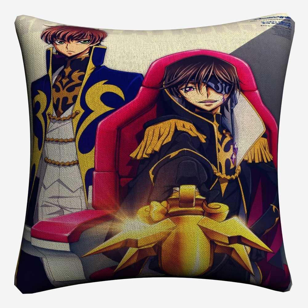 Kod Geass Tam Rakamlar Seksi Anime dekoratif pamuk-keten yastık Örtüsü 45x45 cm Kanepe Sandalye Için Yastık Kılıfı Ev Dekor Almofada