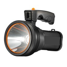 Super Bright LED Searchlight Outdoor Handheld Portable Spotlight Lantern Rechargeable Powered by 9000mA battery Flashlight