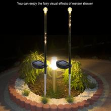 2Pcs Solar Garden Lights LED Romantic Stake Light Meteor Rain Meteoric Shower Lamp for Lawn Yard High Quality