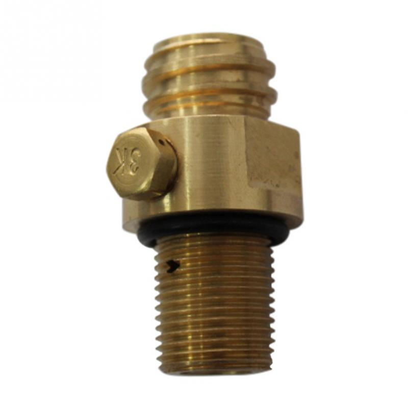 1pc CO2 Tank Brass Pin Valve Soda Water Inflation  Pin Valve