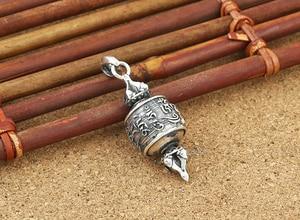Image 4 - Real 925 Silver Tibetan OM Mani Padme Hum Dorje Pendant vintage sterling silver OM Dorje Pendant Buddhist Pendant
