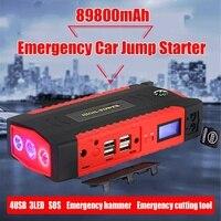 Portable 89800mAh Car Jump Starter Power Bank 4 USB Battery Booster Charger 12V Starting Device Petrol Diesels Car Starter
