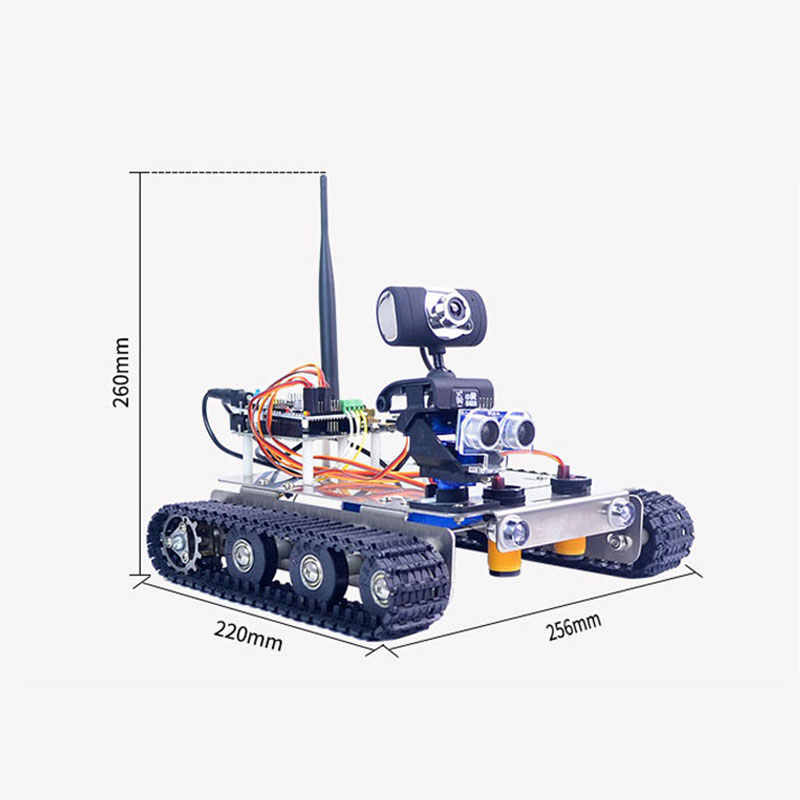 Xiao R DIY GFS WiFi Wireless Video Control Smart Robot Tank Car Kit with  Camera for Arduino