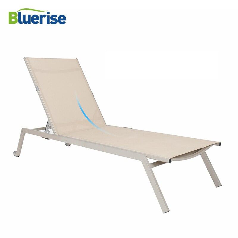 Chaise de plage canapé pliant Chaise longue Style européen Chaise inclinable Patio extérieur mobilier de jardin loisirs Chaise BLUERISE