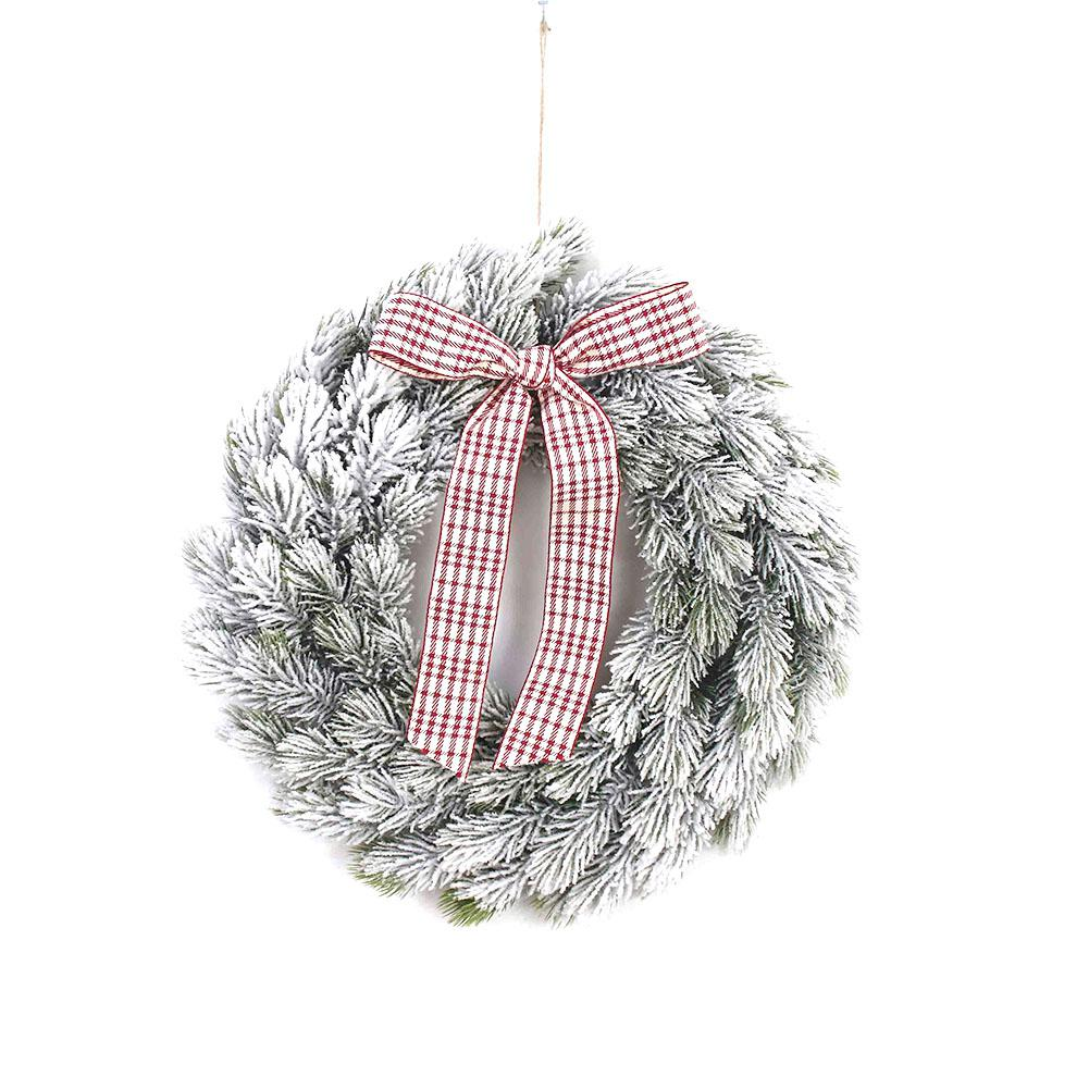 Christmas Style Garden Round Wreath Artificial Wreath for Front Door Home Decoration