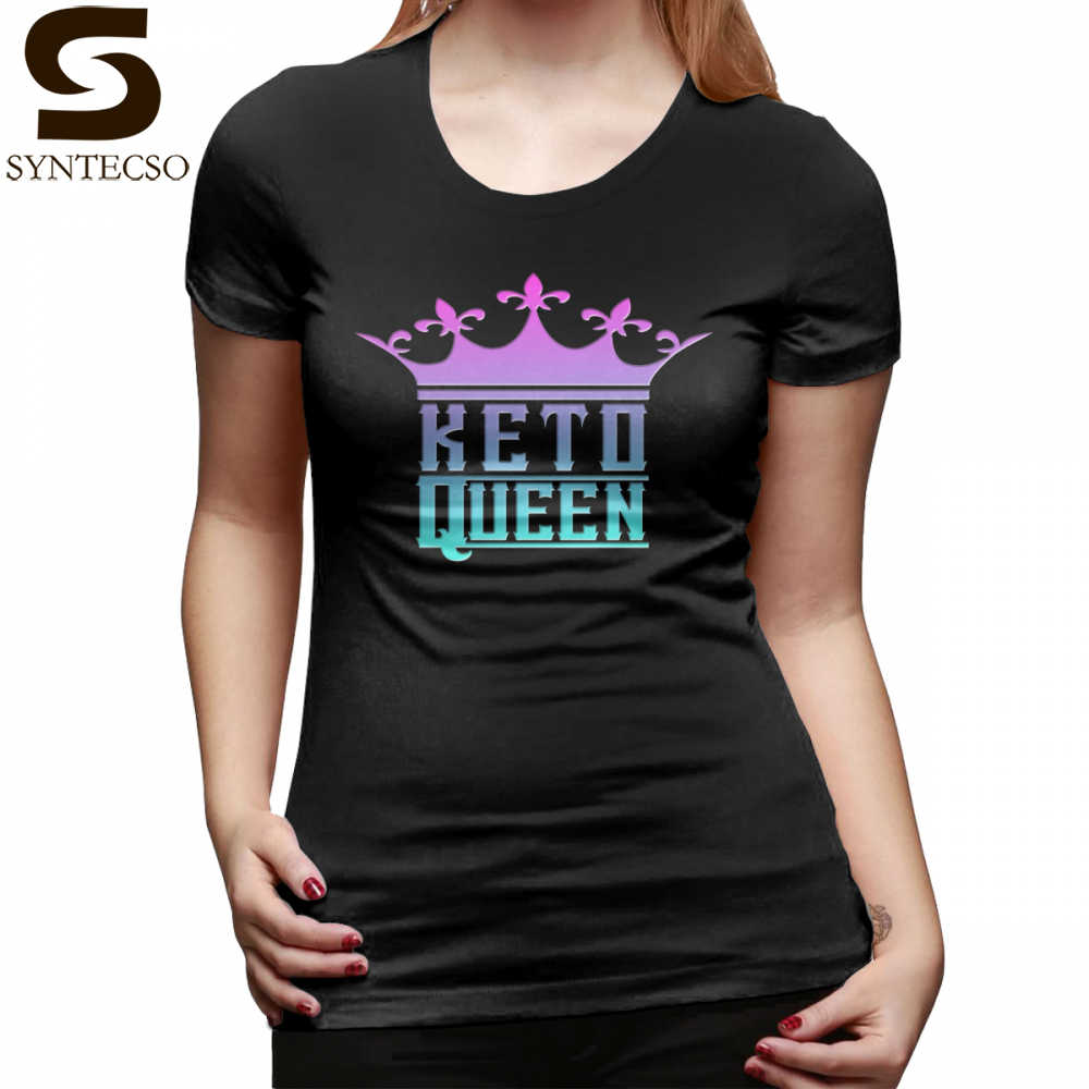 17c423f9c Low Carb T-Shirt Keto Queen Crown Graphic Ketosis Diet Success T Shirt  Summer Funny