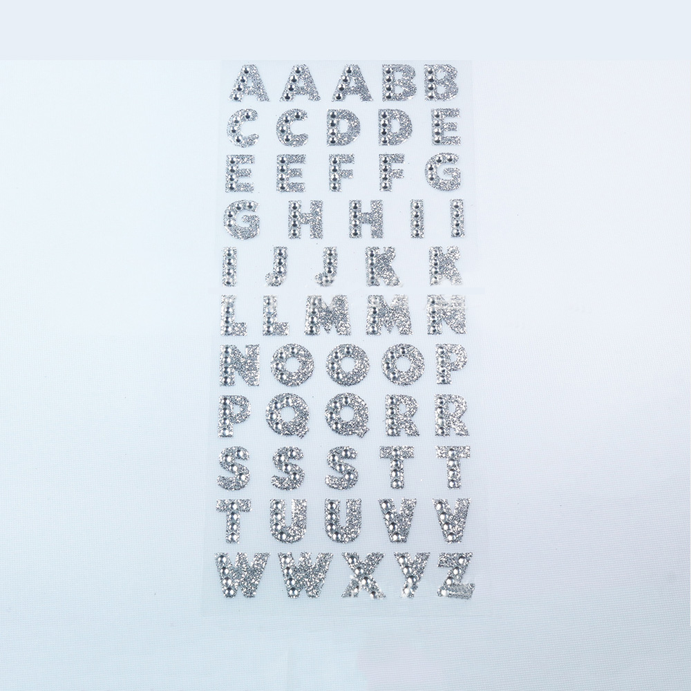 DIY Scrapbooking Stickers Shiny Alphabet Acrylic Diamond Sticker Decoration Arts Crafts Sewing