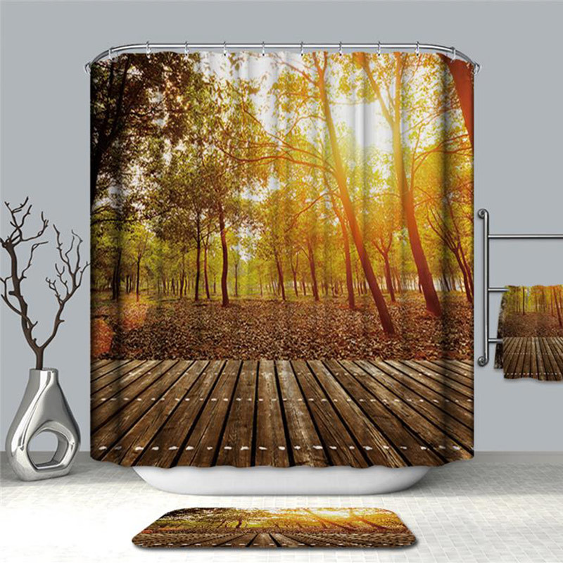 Image 3 - VOZRO Shower Curtain Of Natural Quality Of Waterproof Polyester 2 M 3d Decoration Simple Shower Douchegordijn Youtube Bape Groot-in Shower Curtains from Home & Garden