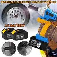 220V 350Nm 30000mAh Electric Drill Cordless Electric Screwdriver 1/2 inch Socket Impact Wrench +2 Batteries Home DIY Power Tools