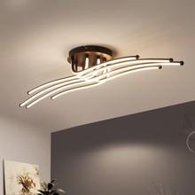 Lámpara Led moderna de aluminio para sala de estar, dormitorio, accesorios de techo para el hogar, luminaria, Lustres, decoración con Control remoto