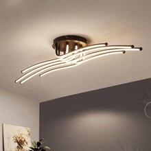 Nowoczesny żyrandol Led aluminium światła do salonu sypialni domu oprawy sufitowe oprawy nabłyszczania pilot dekoracji