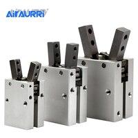 MHC2 10D 16D 20D 25D 32D Double acting pneumatic gripper SMC type angular style aluminium clamps air cylinder manufacturers