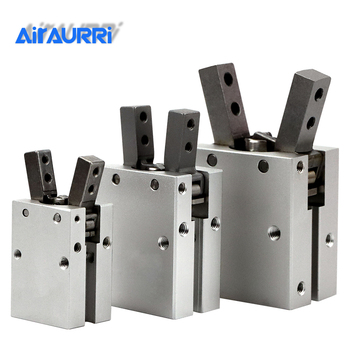 MHC2 10D 16D 20D 25D 32D Double acting pneumatic gripper SMC type angular style aluminium clamps air cylinder manufacturers цена 2017