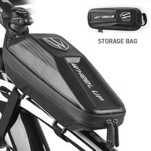 Bicycle Bag Cycling Phone Bag Front Beam Storage Bike Bag EVA Waterproof Double-zippered MTB Upper Tube Bag Road Accessories стоимость