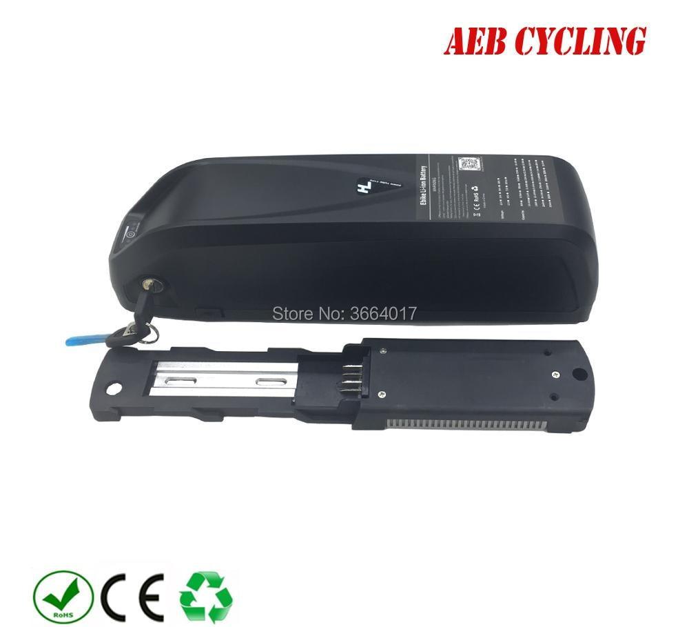 Free shipping plastic Hailong plus down tube ebike battery case 65 Pcs 18650 cells ebike USB