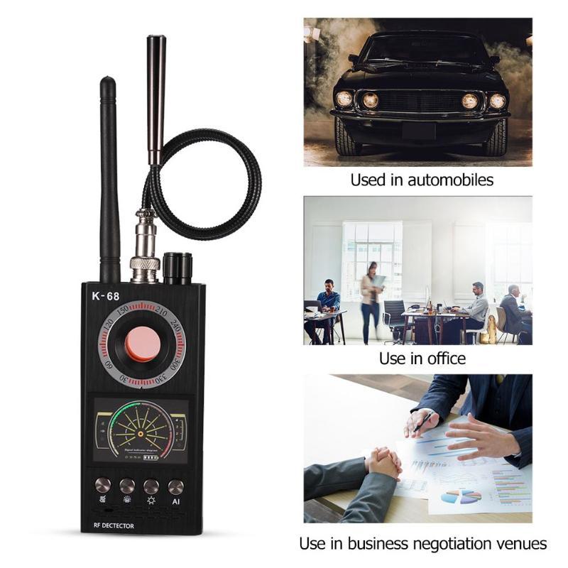 Caliente K68 señal inalámbrica Detector RF Bug Finder Anti Eavesdroped Detector Anti Candid Camera GPS Tracker localizador Dropshipping. exclusivo. - 5