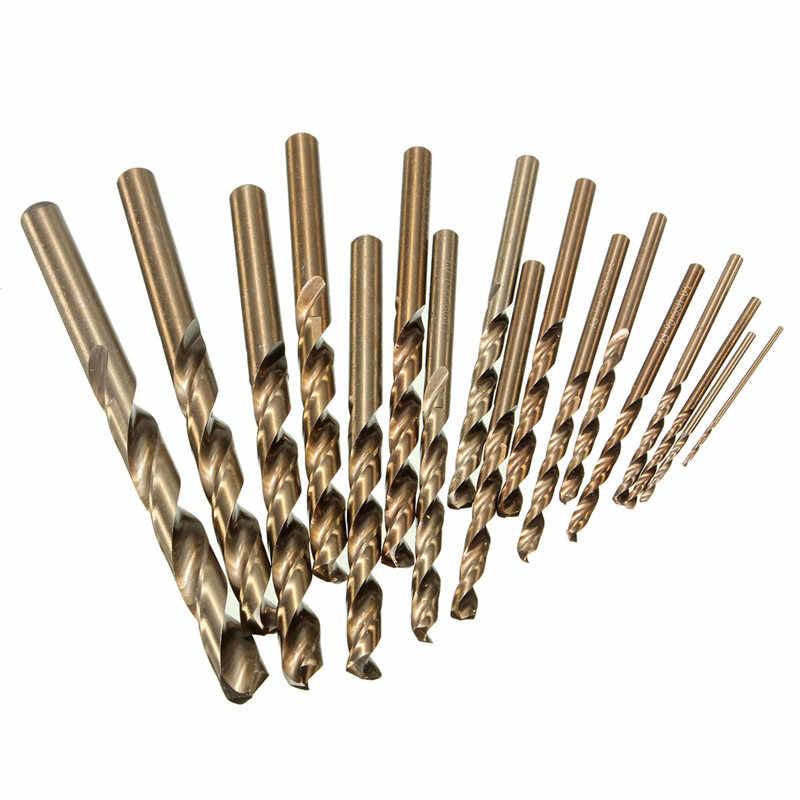 1.0mm to 8.0mm Professional High Speed Steel Cobalt Drill Bits Power Tools Various Sizes Metal Plastic Wood