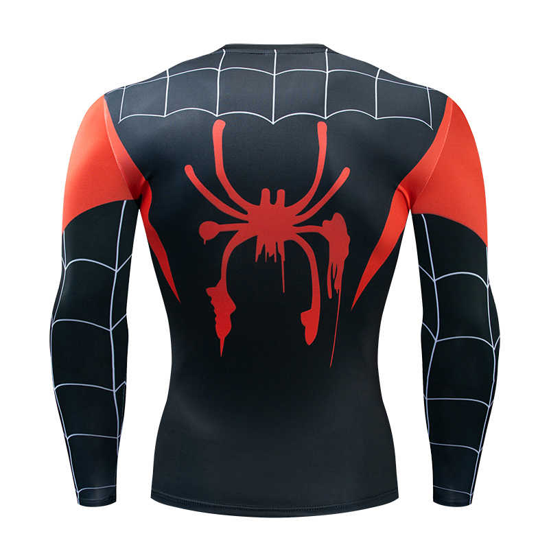長袖スパイダーマン 3D プリント Tシャツ男性圧縮シャツ 2019 新半袖コミックコスプレ衣装の布トップス男性