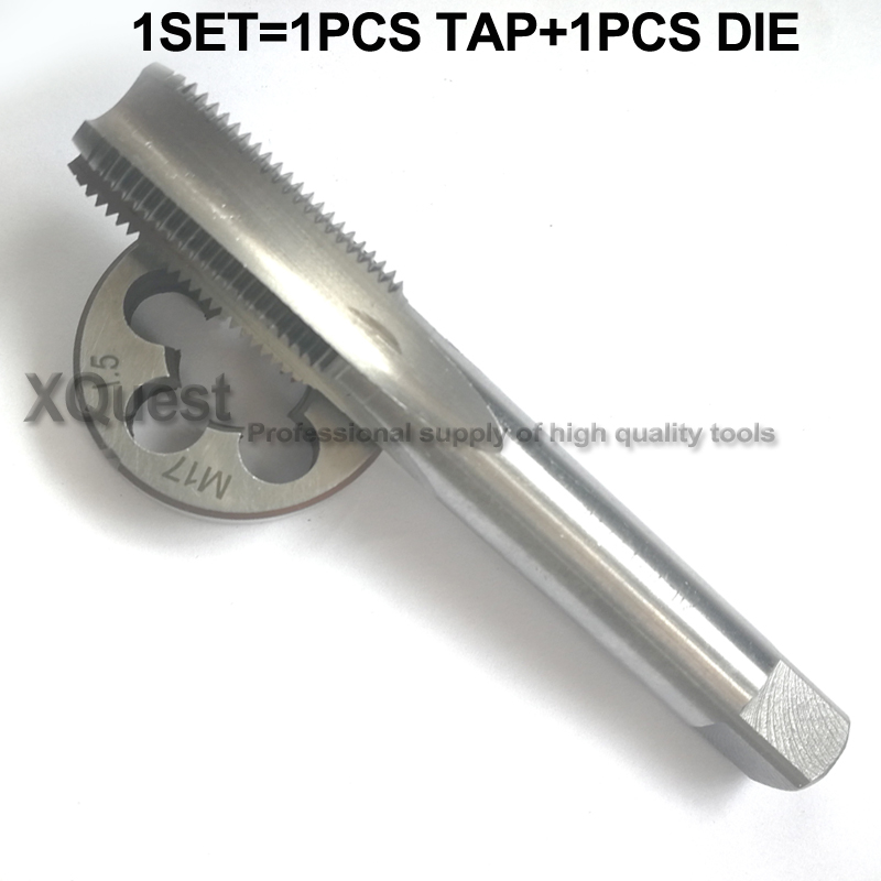 1set Metric Screw Tap And Die Set M12 M13 M14 M15 M16 M17 M18 M20 Round Die Fine Thread Plug Tap Suit M4 M5 M6 M7 M8 M9 M10 M11