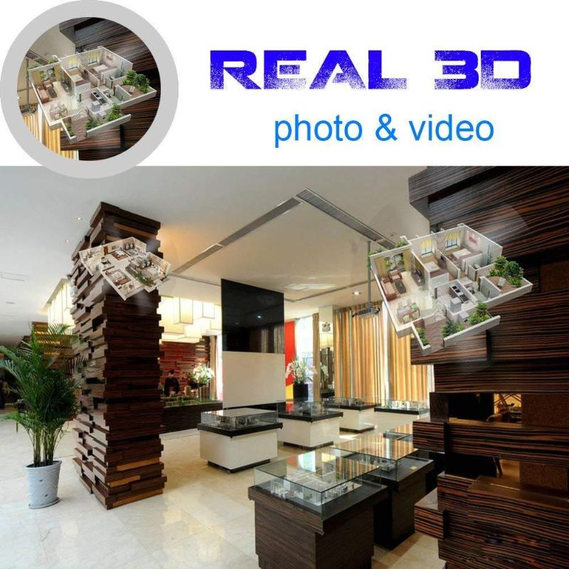 42cm 3D Hologram Projector Lamp LED Holographic Advertisement Display Fan Light with 8GB Memory Card Advertising Lamp