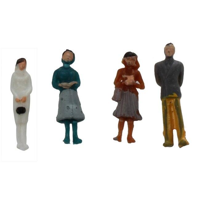 24 preso colorido pintado areia tabela modelo ferroviário passageiros figuras escala (1 a 87)