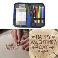New DIY Wood Burning Kit 71 Pieces Pyrography Pencil Set With Variable Temperature Control Include Carving Embossing Soldering