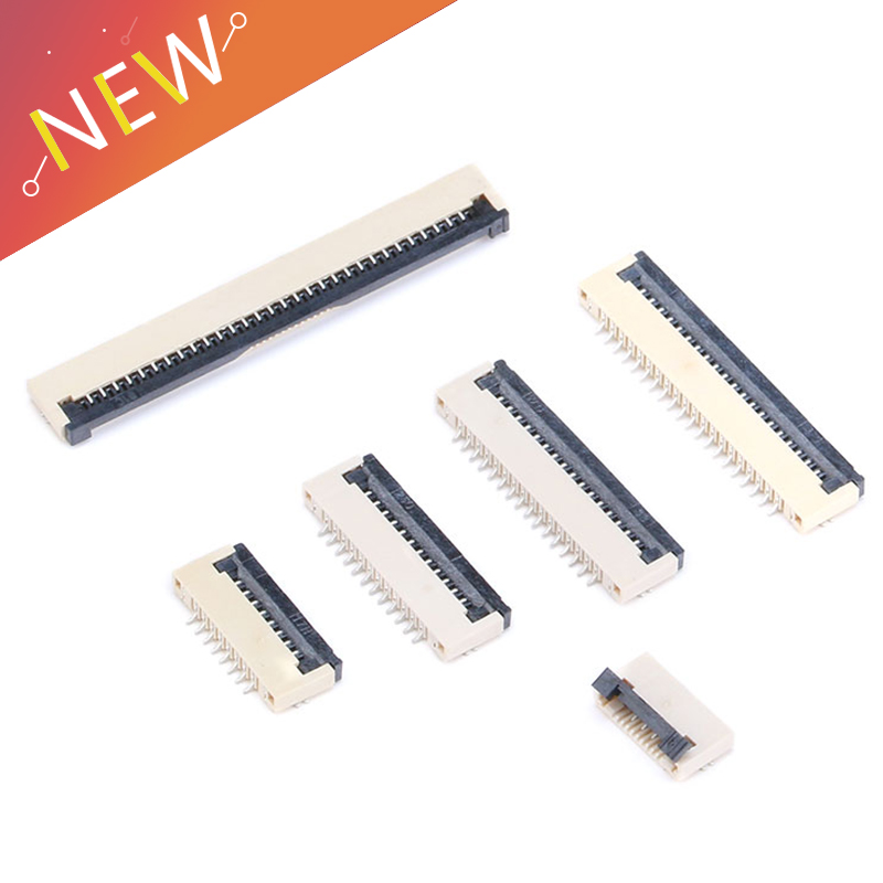 10pcs 1mm Pitch Under Clamshell Socket FPC FFC Flat Cable Connector 4P 5P 6P 8P 10P 12P 14P 16P 20P 22P 24P 30P 34P