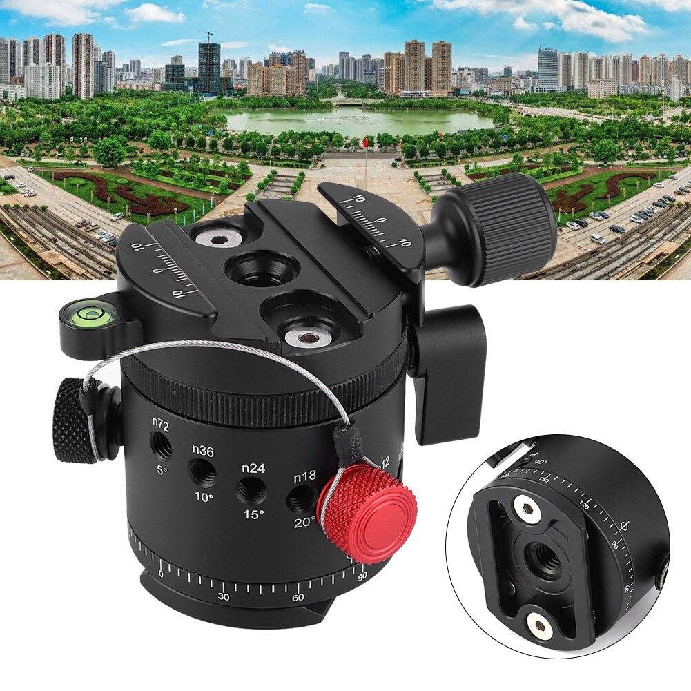 Onverdroten Dh-55 360 Graden Panoramisch 10 Stopt Klik Indexering Rotator Ball Head 1/4 Inch En 3/8 ''schroef Gat Voor Camera Statief Meer Comfort Voor De Mensen In Hun Dagelijks Leven