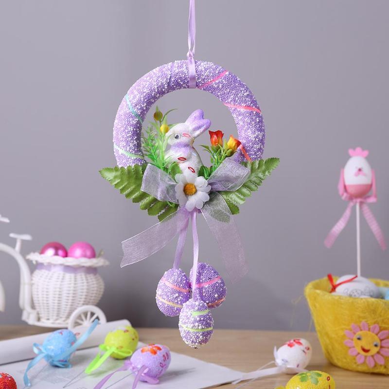 Fashion Easter Eggs Rabbit Dolls Children Toy DIY Hanging Ornaments Kids Birthday Kindergarten Party Decoration Crafts Gift