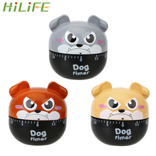 HILIFE 55 Minutes Kitchen Timer Countdown Alarm Reminder Cute Dog Cooking Reminders Tools Practical Mechanical Timer