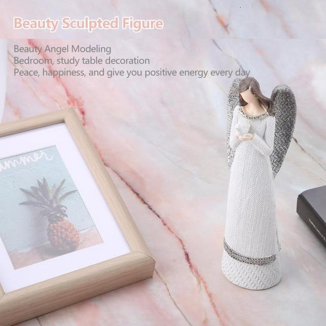 Resin Figures 20cm Resin White Beauty Sculpted Figure Table Ornaments Hand-painted Angel Figurine Home Decoration Accessories 6