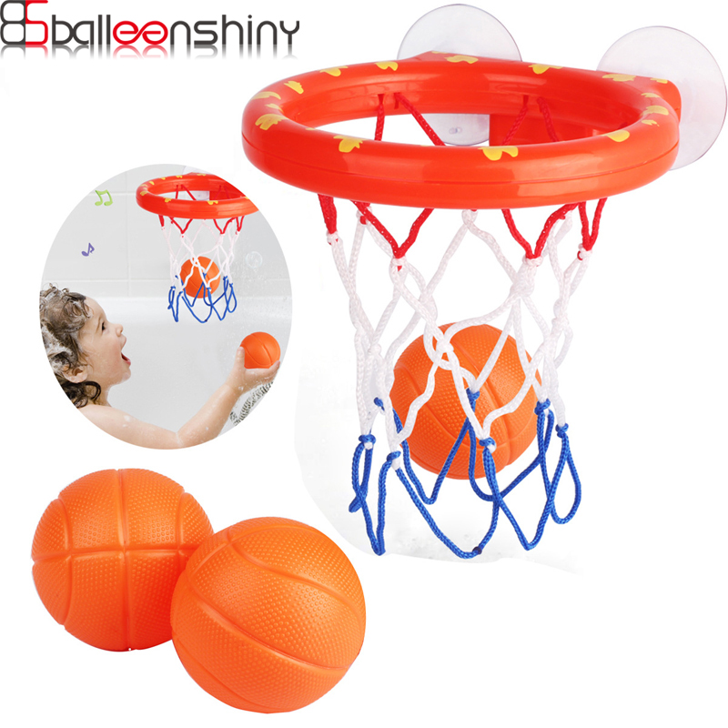 BalleenShiny Baby Water Play Shooting Toys Kids Bath Shooting Basketball Rebounds Toys Childen Bathroom Basketball Games