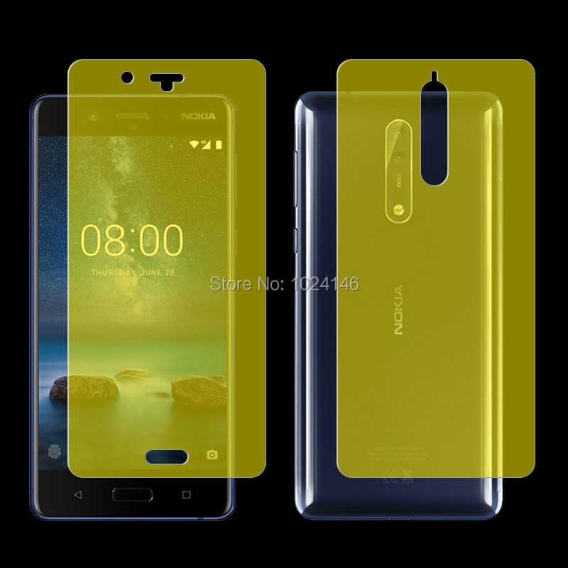 Ön/arka tam kapsama yumuşak TPU ekran koruyucu film için Nokia 3 5 6 7 8 Sirocco 5.1 6.1 artı 7.1 8.1 (temperli cam)
