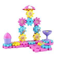 ESTINK красочные пластиковые строительные наборы шестерни строительные блоки сцена Contruct блок игрушка Развивающие игрушки для детей Подарки для детей