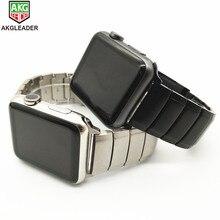 Прочный металлический стальной ремешок AKGLEADER для Apple Watch серии 5 4 3 2 1 iWatch браслет высокого качества из нержавеющей стали ремешок для часов