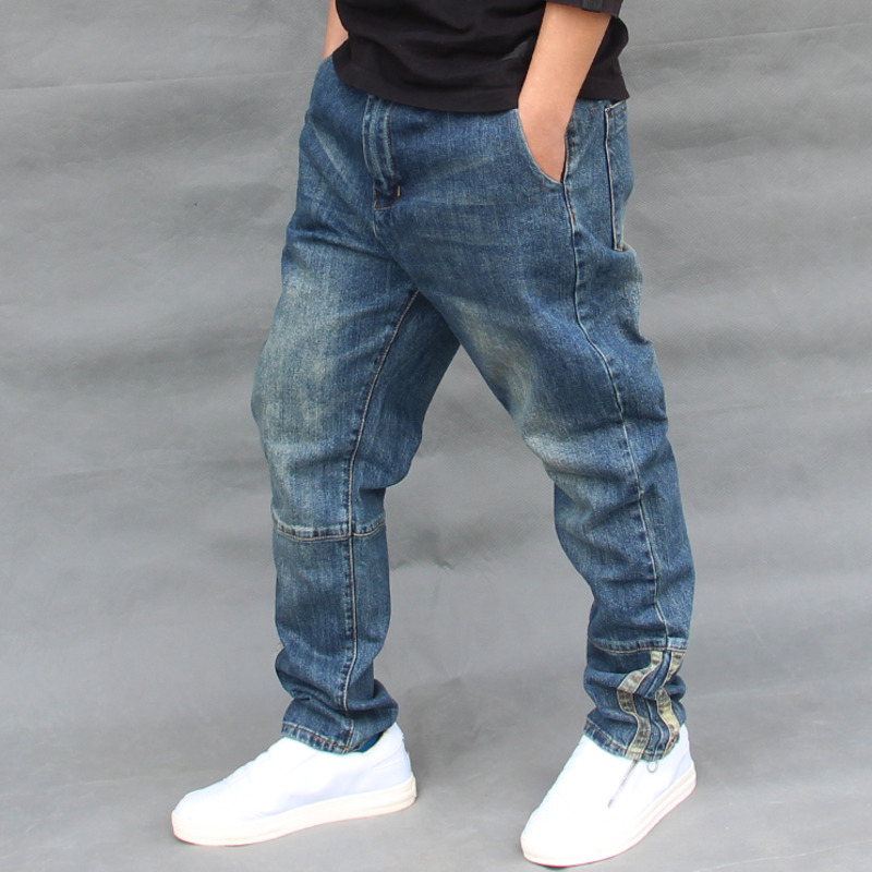 Big Yards Men Streetwear Dance Harem Denim Pants Mens Baggy Skateboard Jean Trousers Drop Crotch Loose Cargo Sweatpants FSH17