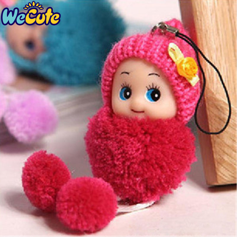 Wecute 2pcs/lot Kids Toys For Baby Girls Mini Lovely Exquisite Small Plush Toy Key&Bag Chain Phone Strap Random Color