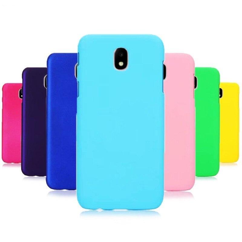 J4 J6 Plus Phone Case For Samsung Galaxy J4 J8 J6 2018 Case Hard Pc Candy Color Cover For Coque Samsung J3 J7 J5 2017 2016 Cases