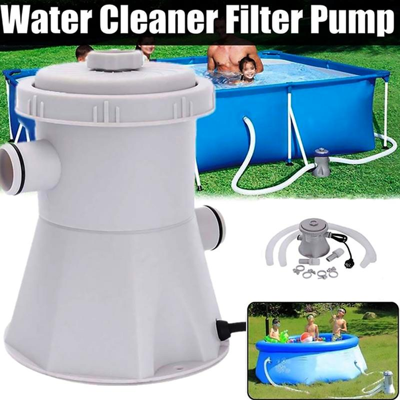 Swimming Pool Filter Pump Pool Cleaner 220v Filter Pump Circulation Pump Siphon Principle Swiming Pool Purifier Replaceable Core
