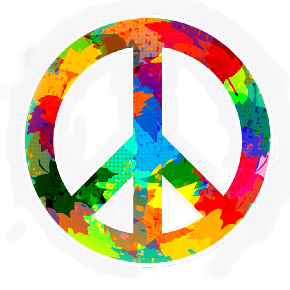 Funny car bumper sticker peace symbol hippie bocy flower girl gypsy vinyl accessories for