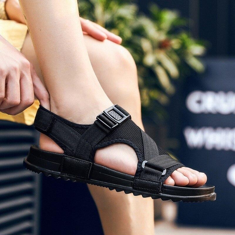 2019 Fashion Musim Panas Pria Sandal Flat Lembut Keras Beach Amp Outdoor Sandal Nyaman Outdoor Sandal Pria Sandal Aliexpress