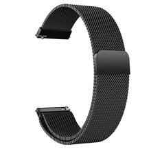 Ремешок для часов из нержавеющей стали для samsung Galaxy Watch Active 20 мм Milanis магнитное притяжение из нержавеющей стали сетчатый ремешок для часов