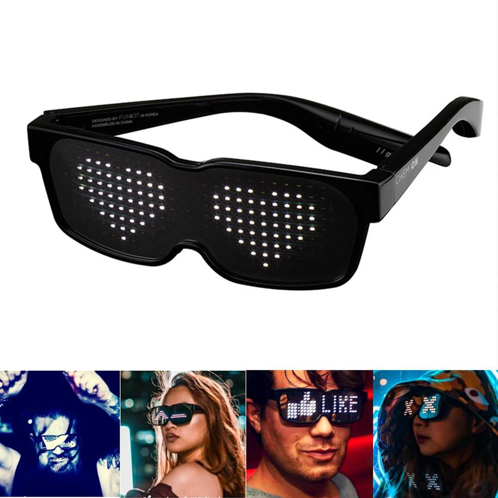 New CHEMION Bluetooth LED Special Atmosphere Sunglasses for Nightclub Party Birthday KTV New Year Festival Decoration