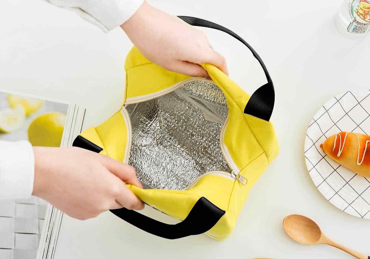 ポータブル絶縁熱クーラー弁当ランチピクニック収納袋ポーチランチバッグ