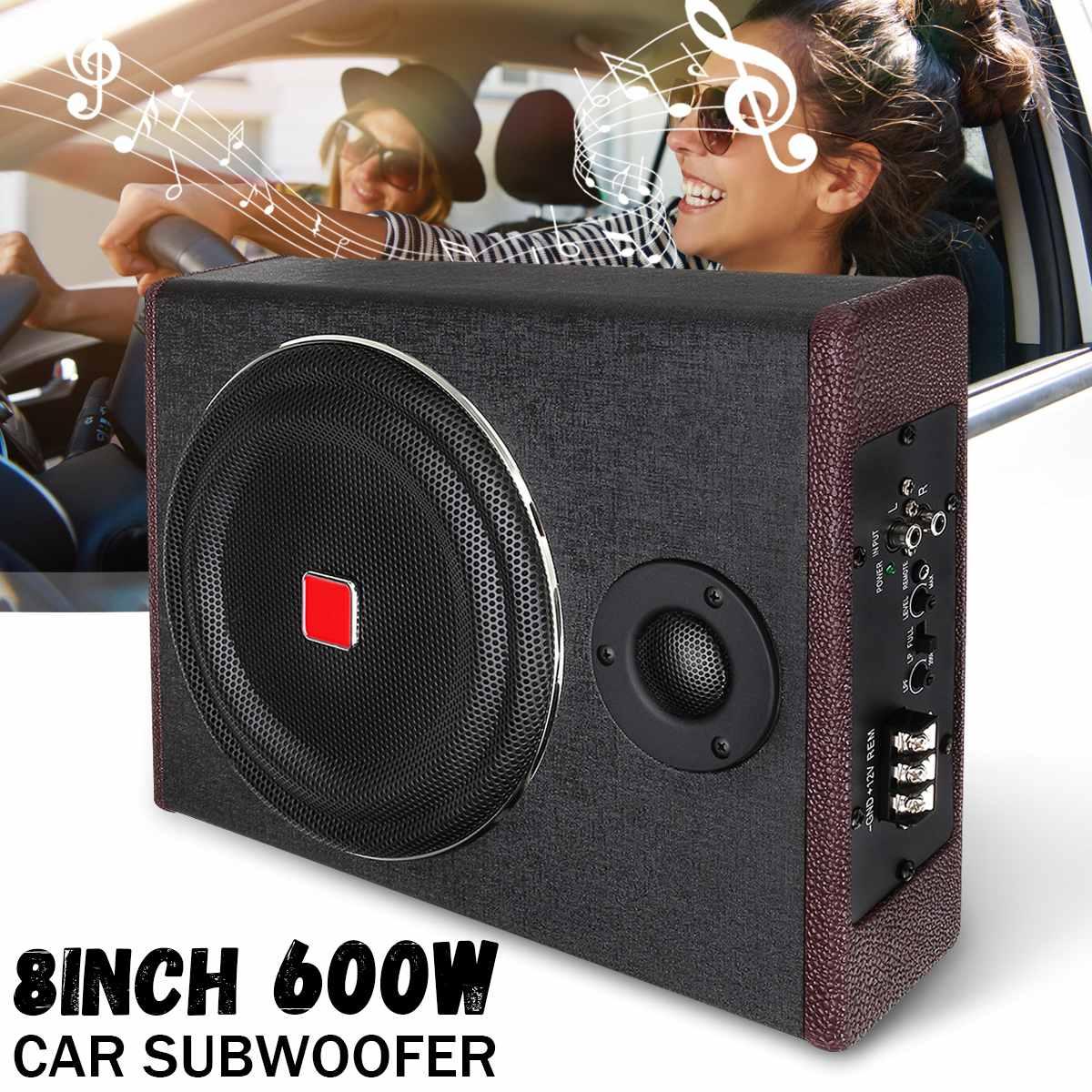 Car-Amplifier Speaker Sub Subwoofers Under-Seat Active Slim Super-Bass 600W 8inch