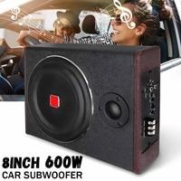 8 Inch 600W Car Subwoofer Speaker Active Under Seat Slim Sub Woofer AMP Super Bass Car Amplifier Subwoofers